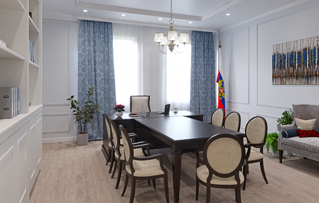 Design project of the interior of the meeting room, Gatchina